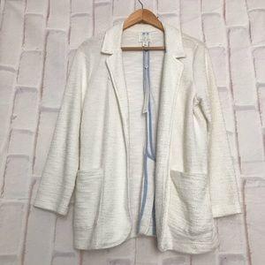 CASLON Size M Open Front Cardigan Side Pockets
